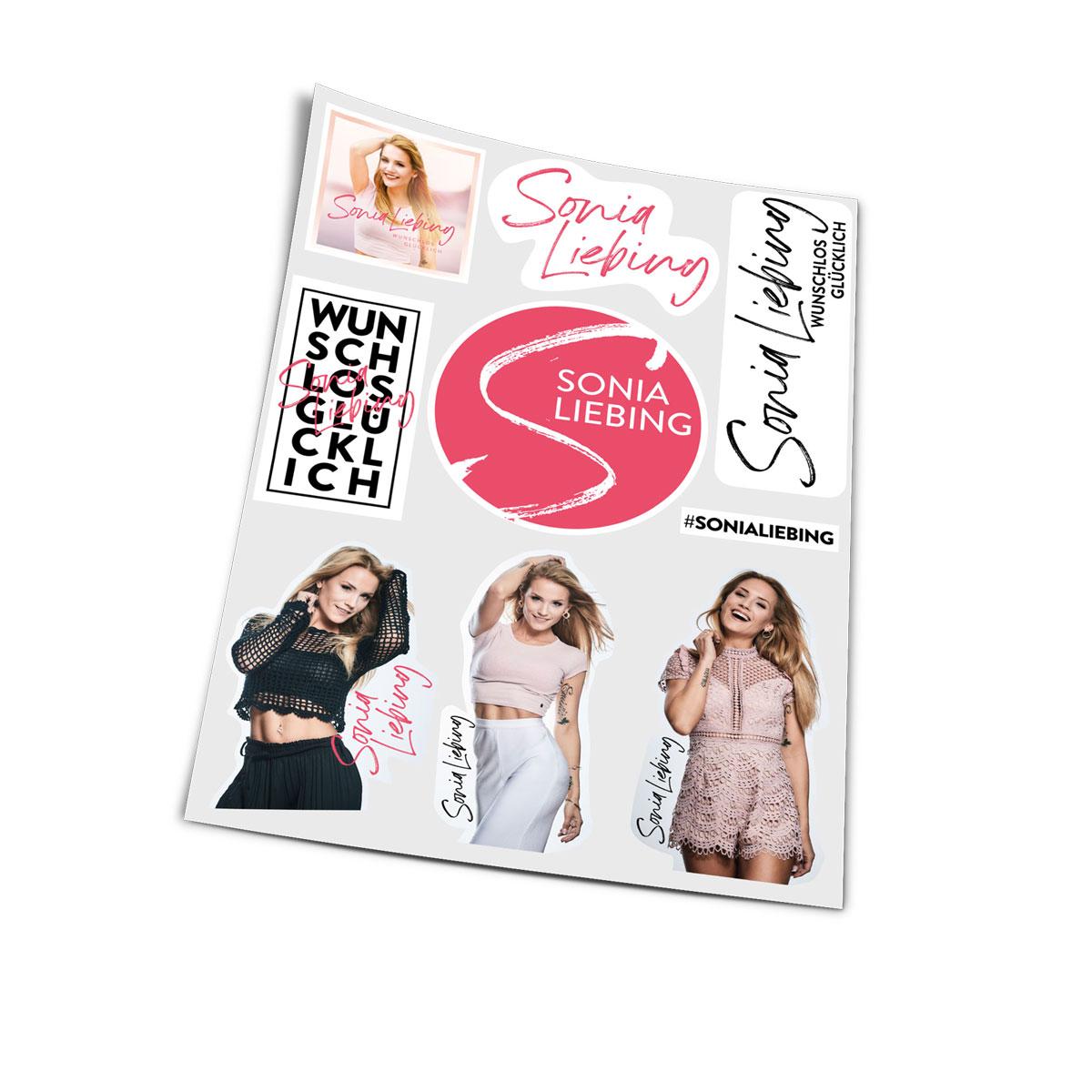 Stickerbogen Sonia Liebing 9teilig