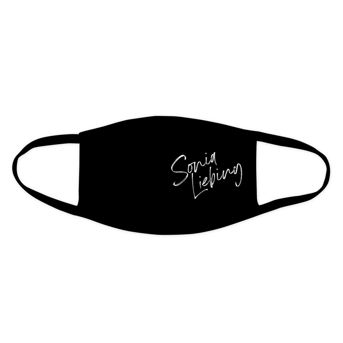 stoffmaske sonia liebing logo schwarz