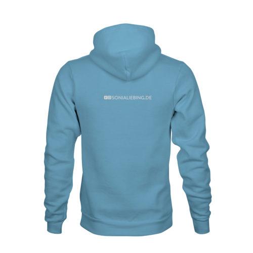 hoodie unisex absolut sonia liebing blau