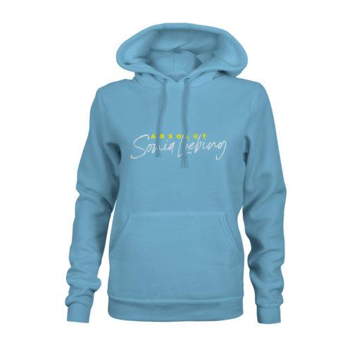 hoodie damen absolut sonia liebing blau
