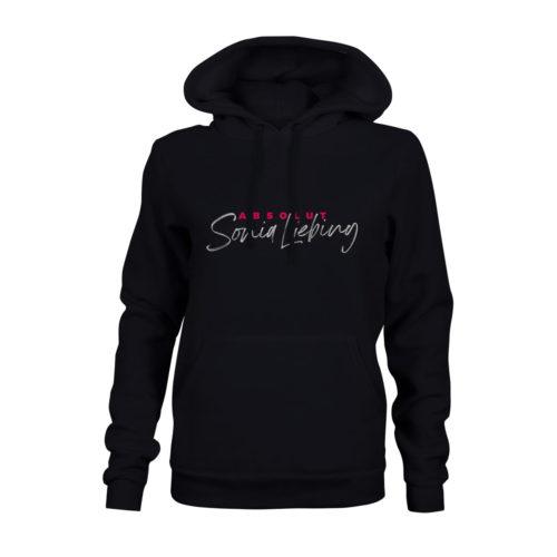 hoodie damen absolut sonia liebing schwarz