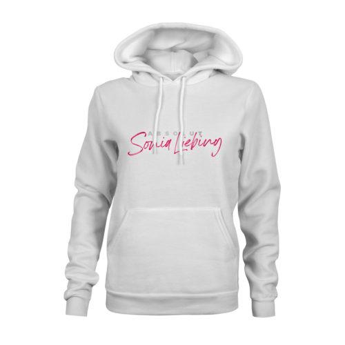 hoodie damen absolut sonia liebing weiss