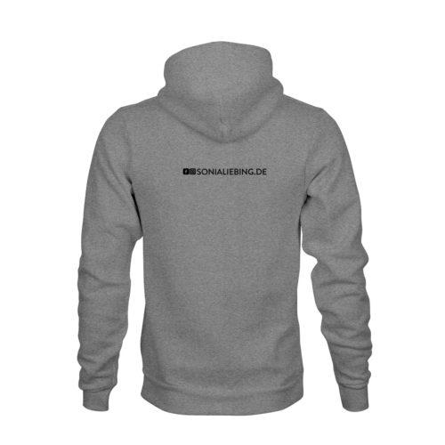 hoodie unisex absolut sonia liebing grau