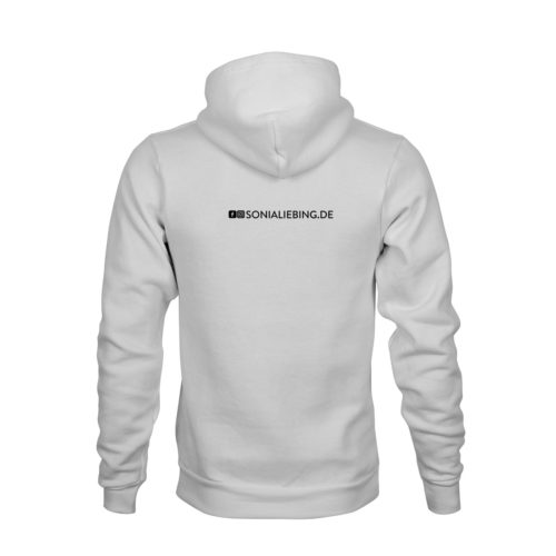 hoodie unisex absolut sonia liebing weiss