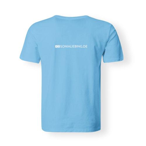 T-Shirt Herren Absolut Sonia Liebing hellblau
