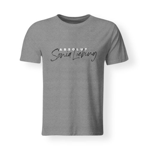 T-Shirt Herren Absolut Sonia Liebing grau