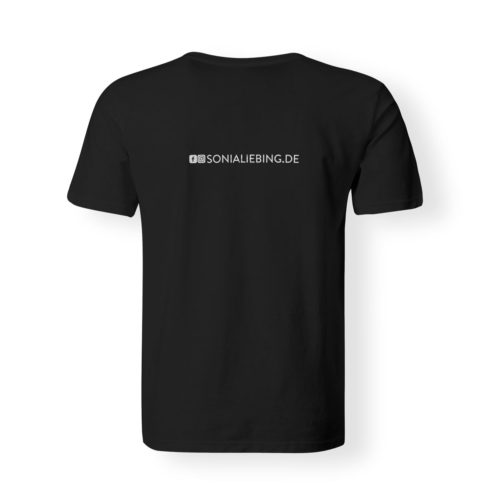 T-Shirt Herren Absolut Sonia Liebing schwarz