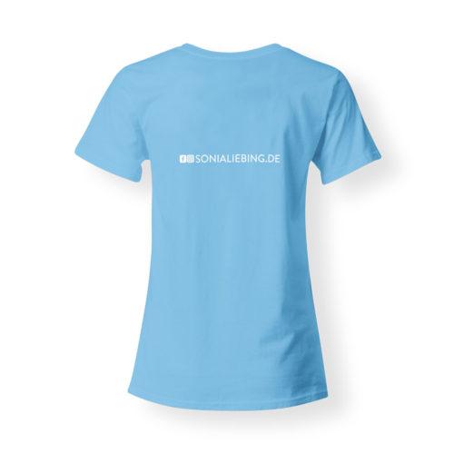 T-Shirt Damen Absolut Sonia Liebing hellblau