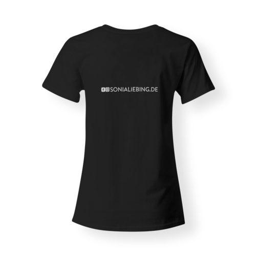 T-Shirt Damen Absolut Sonia Liebing schwarz