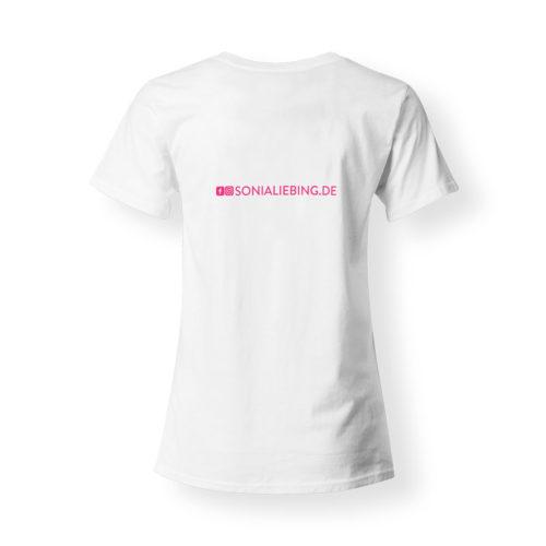 T-Shirt Damen Absolut Sonia Liebing weiss