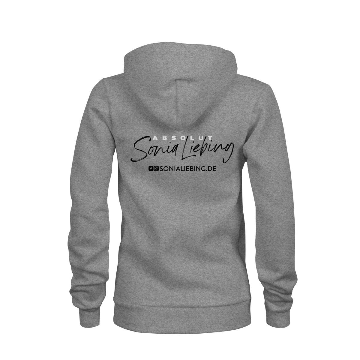 zip hoodie damen absolut sonia liebing grau