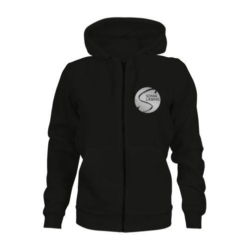 zip hoodie damen absolut sonia liebing schwarz