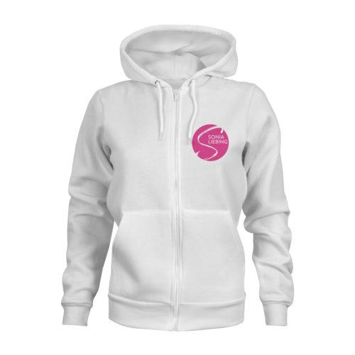 zip hoodie damen absolut sonia liebing weiss