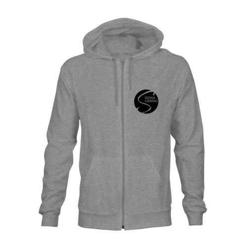 zip hoodie unisex absolut sonia liebing grau
