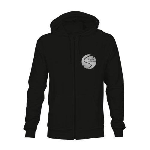 zip hoodie unisex absolut sonia liebing schwarz