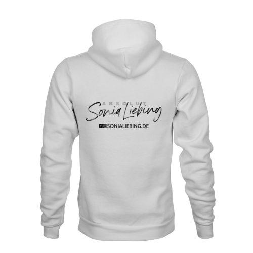 zip hoodie unisex absolut sonia liebing weiss